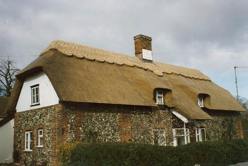 Water reed thatched roof